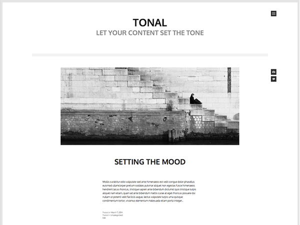 Tonal Download Free Wordpress Theme 2