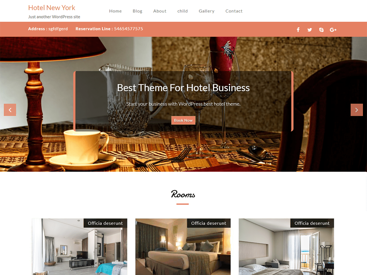 Hotel New York Download Free Wordpress Theme 2