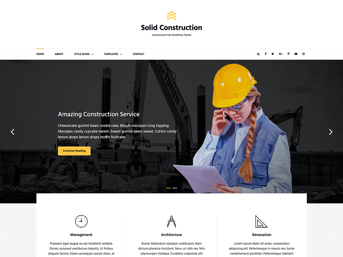 Solid Construction Download Free Wordpress Theme 1