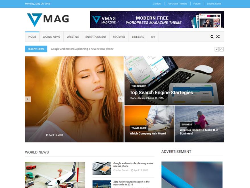 VMag Download Free Wordpress Theme 1