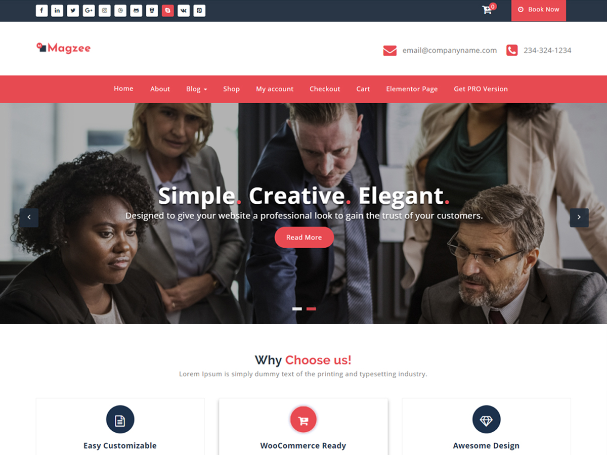 MagZee Download Free Wordpress Theme 2