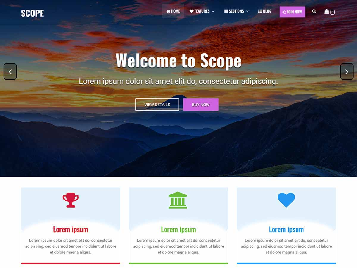 Scope Download Free Wordpress Theme 3