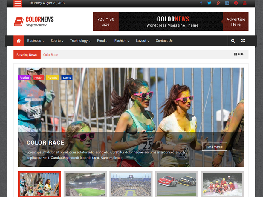 ColorNews Download Free Wordpress Theme 3