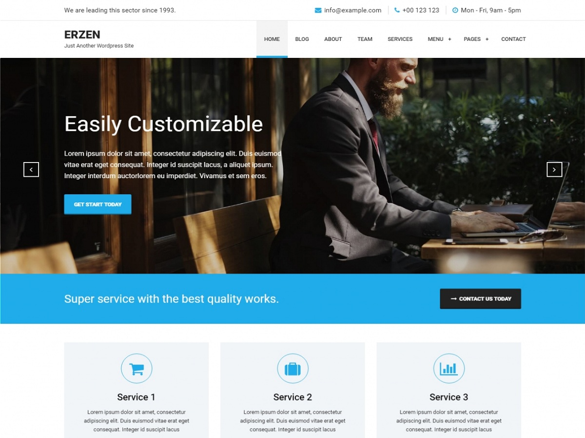 Erzen Download Free Wordpress Theme 4