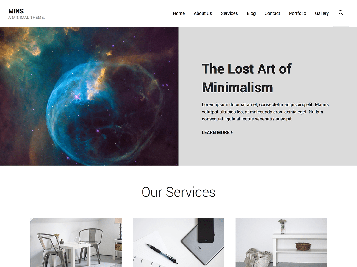 Mins Download Free Wordpress Theme 3