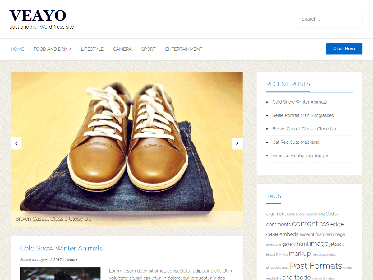 veayo Download Free Wordpress Theme 5