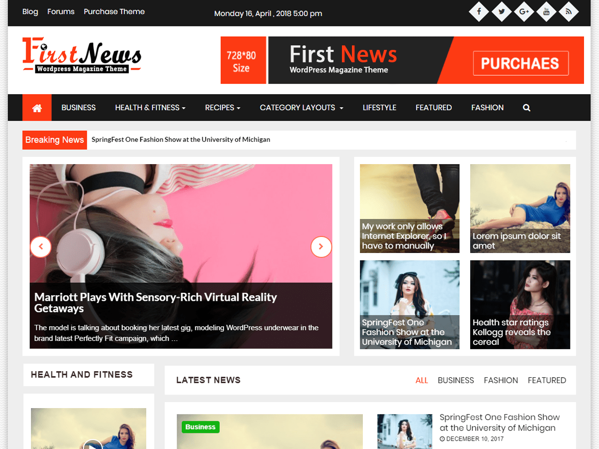 First News Download Free Wordpress Theme 4