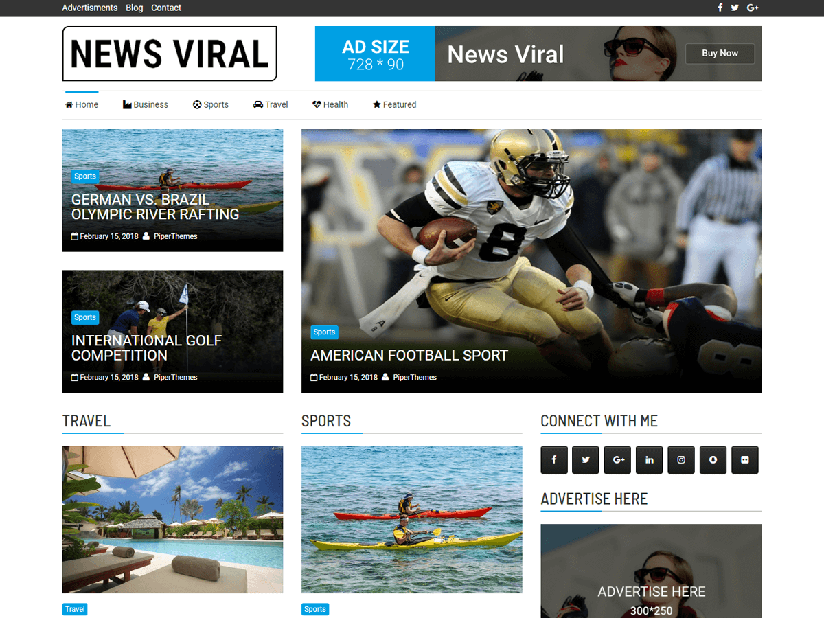 News Viral Download Free Wordpress Theme 1