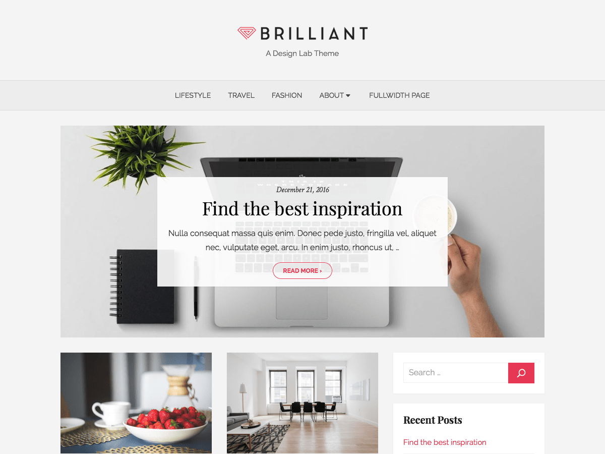 Brilliant Download Free Wordpress Theme 4