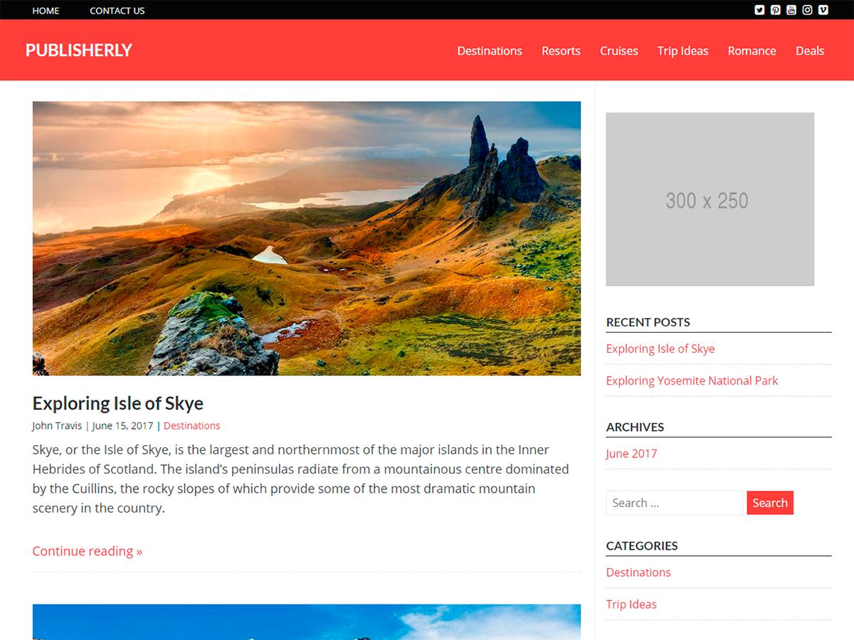 Publisherly Download Free Wordpress Theme 3