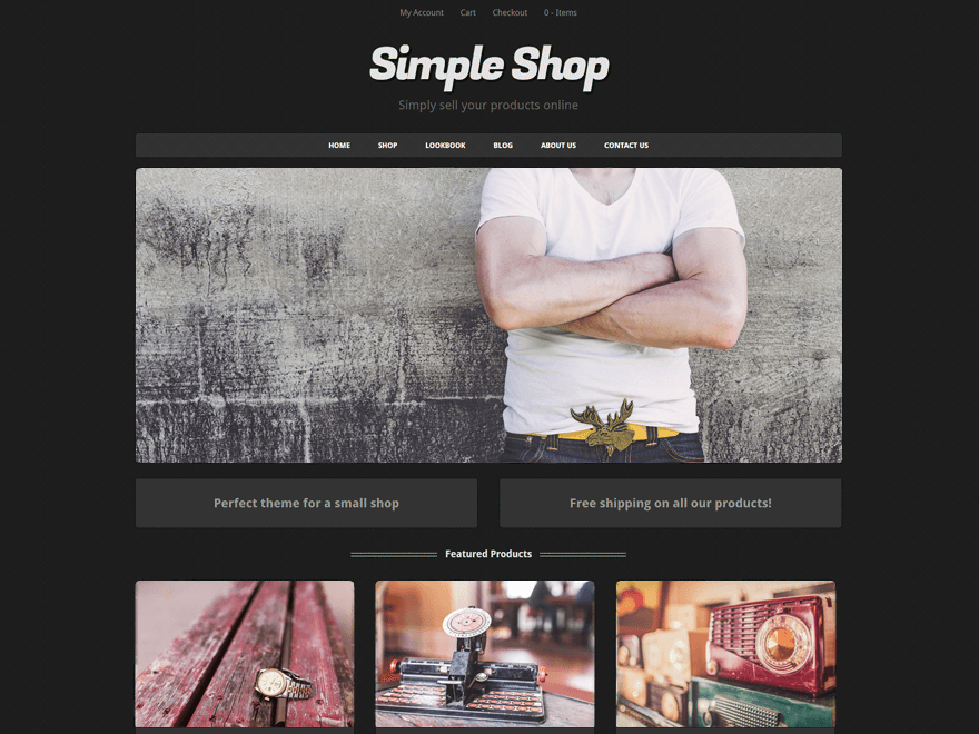 Simple Shop Download Free Wordpress Theme 1
