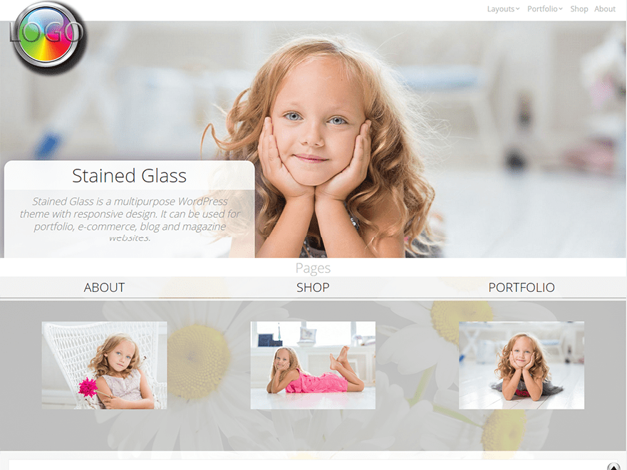 Stained Glass Download Free Wordpress Theme 2