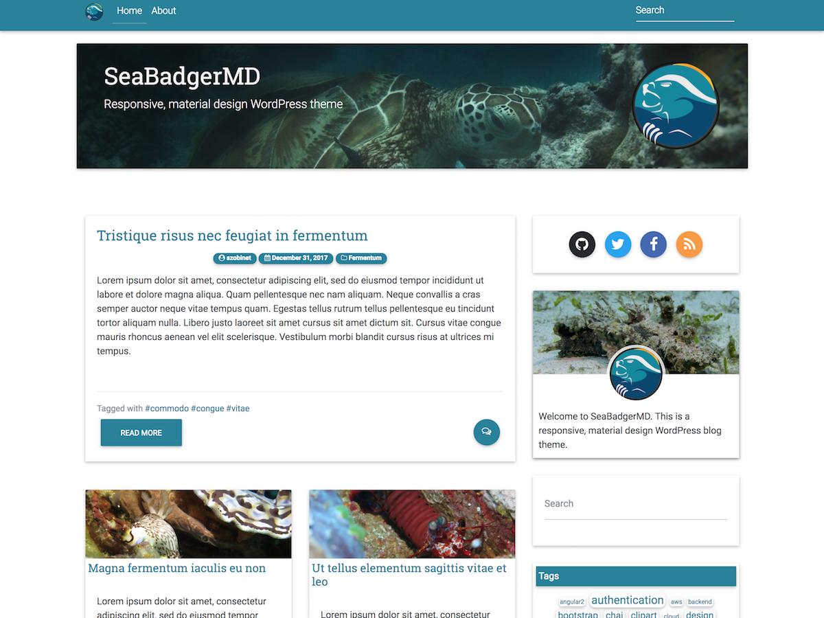 SeaBadgerMD Download Free Wordpress Theme 4