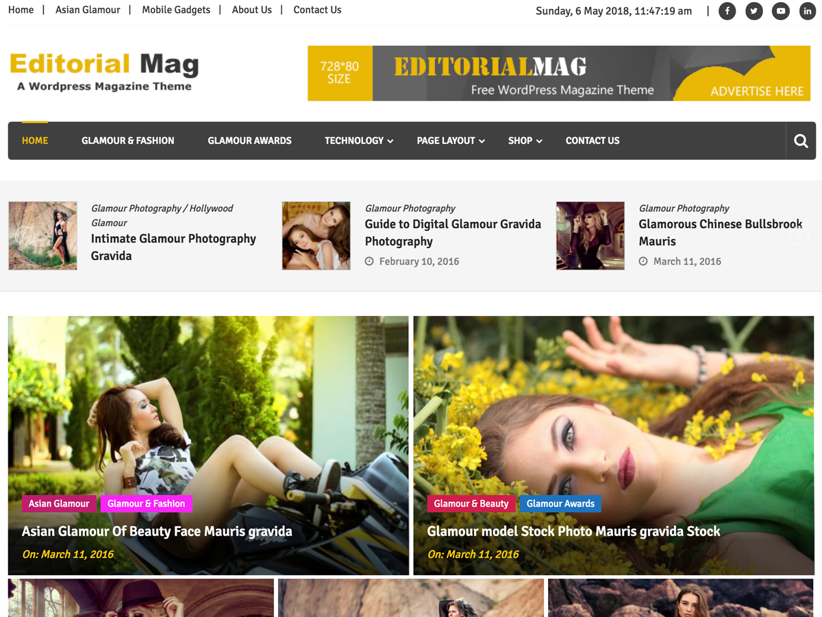 Editorialmag Download Free Wordpress Theme 1