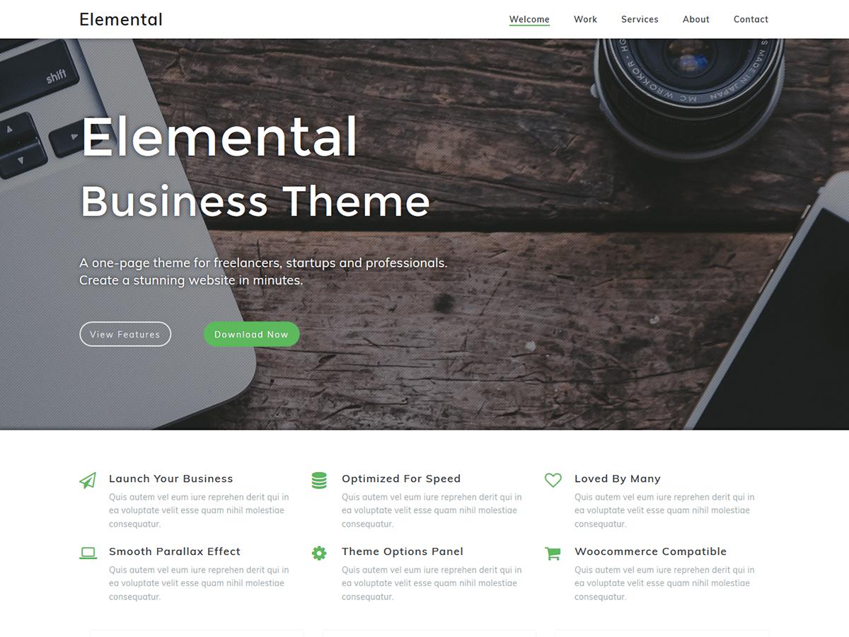 Elemental Download Free Wordpress Theme 1