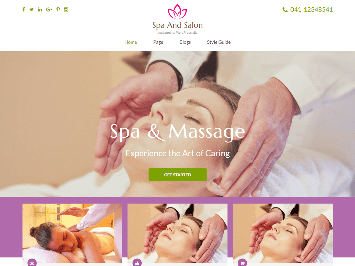 Spa and Salon Download Free Wordpress Theme 1