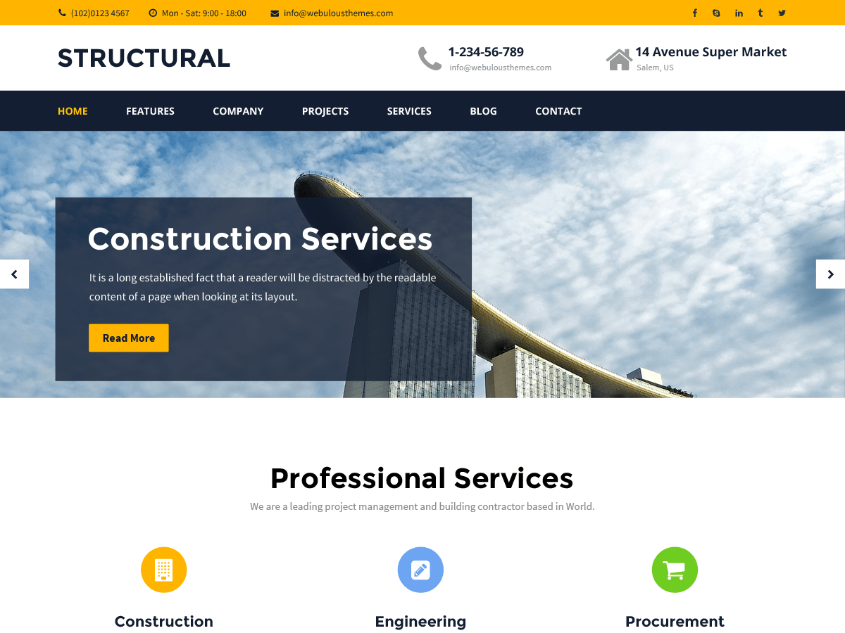 Structural Download Free Wordpress Theme 5