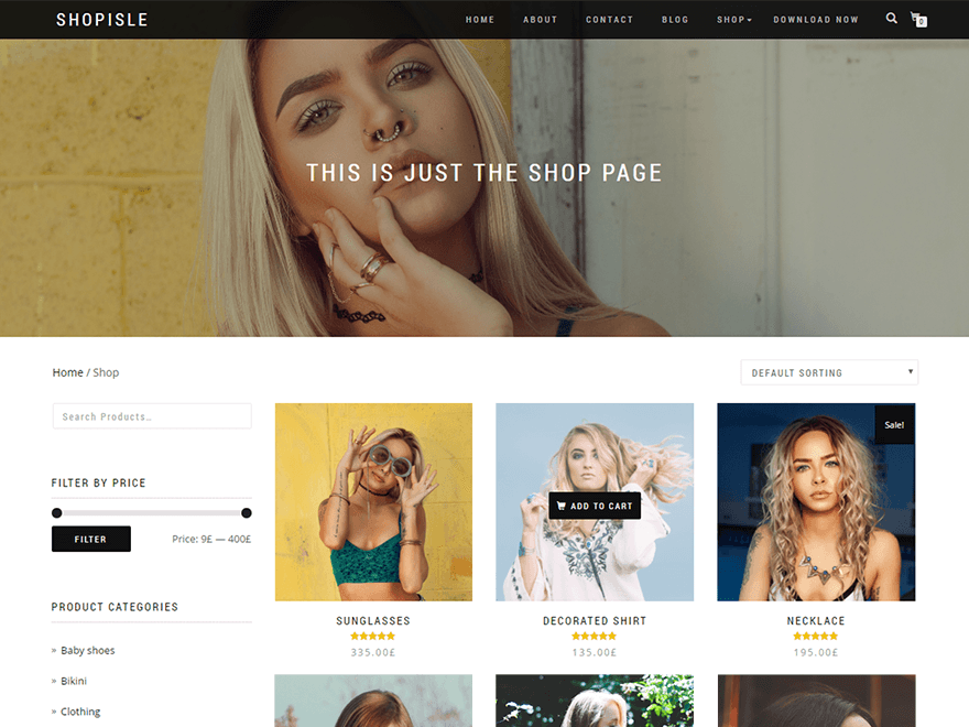 Shop Isle Download Free Wordpress Theme 1