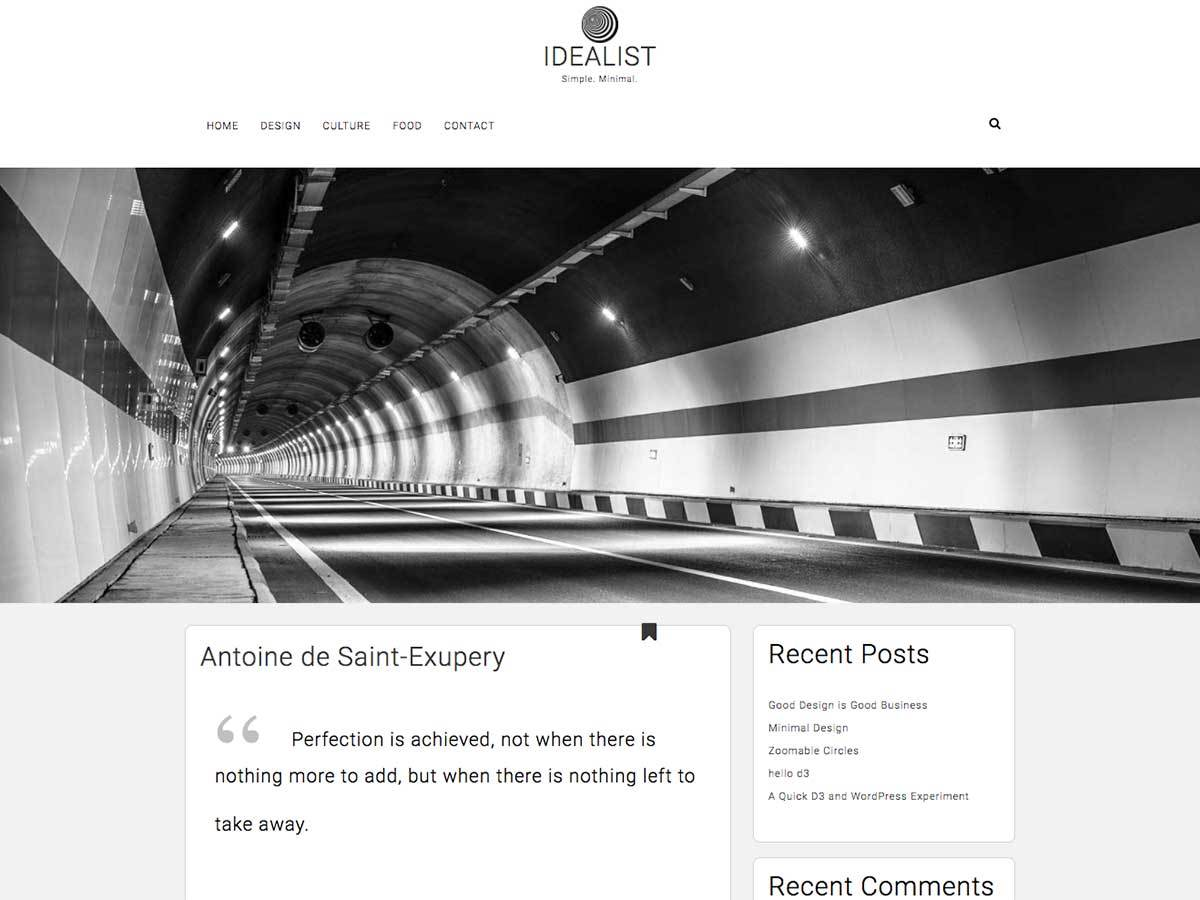 Idealist Download Free Wordpress Theme 5