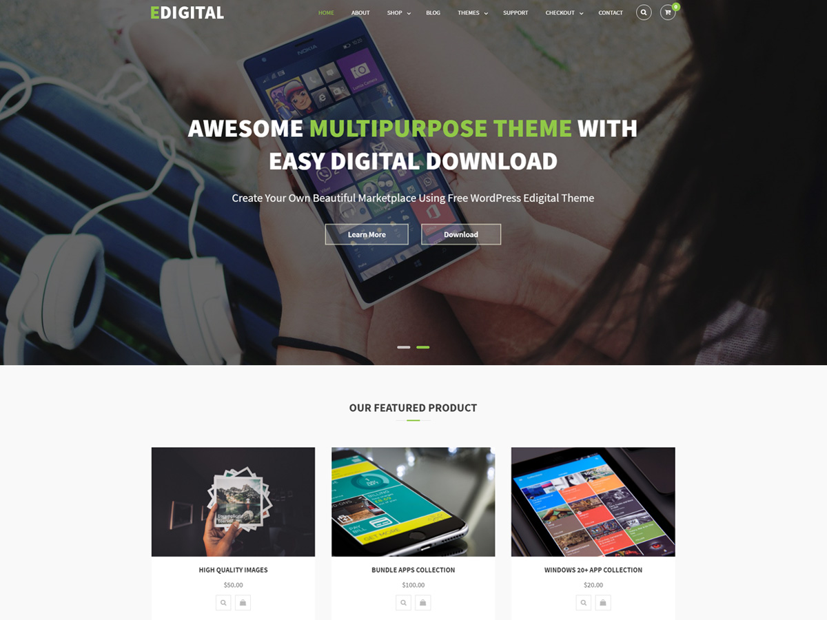 EDigital Download Free Wordpress Theme 3