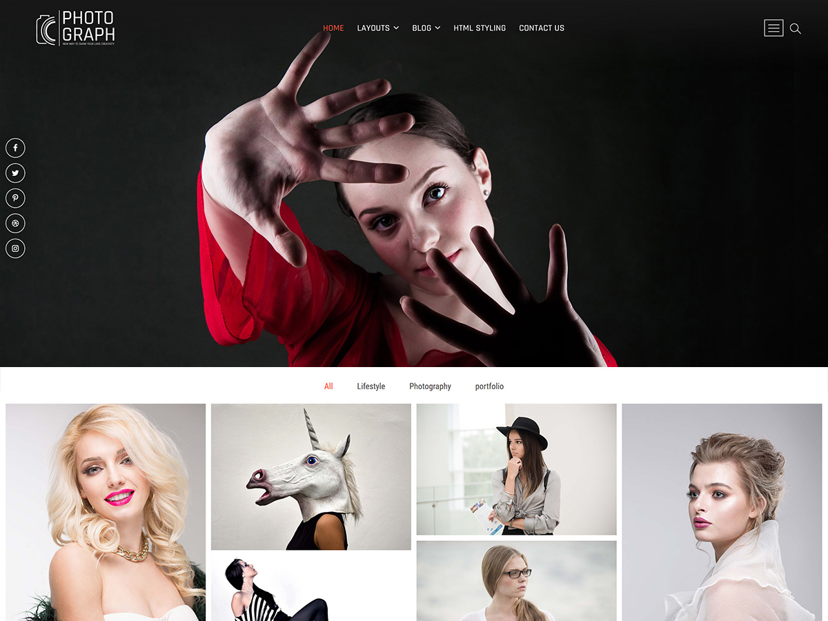 Photograph Download Free Wordpress Theme 3