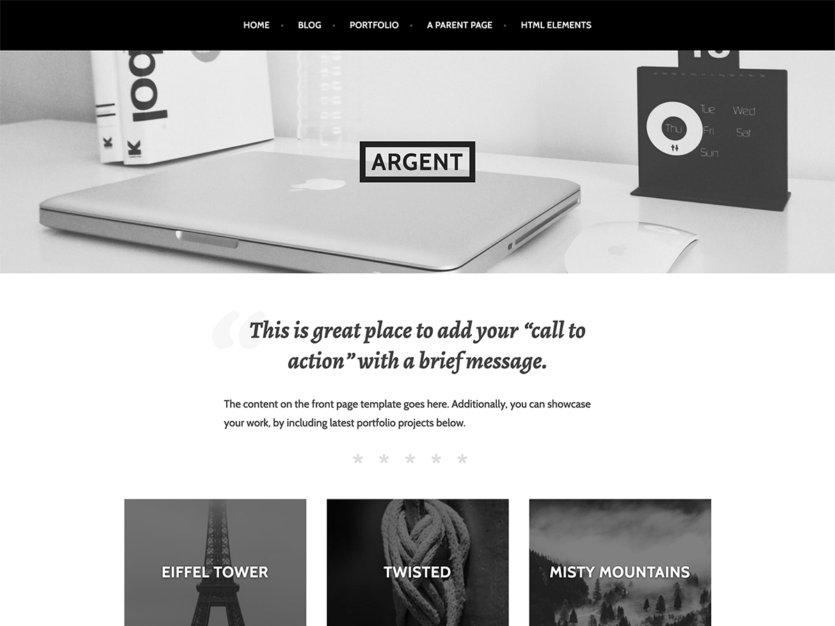 Argent Download Free Wordpress Theme 2