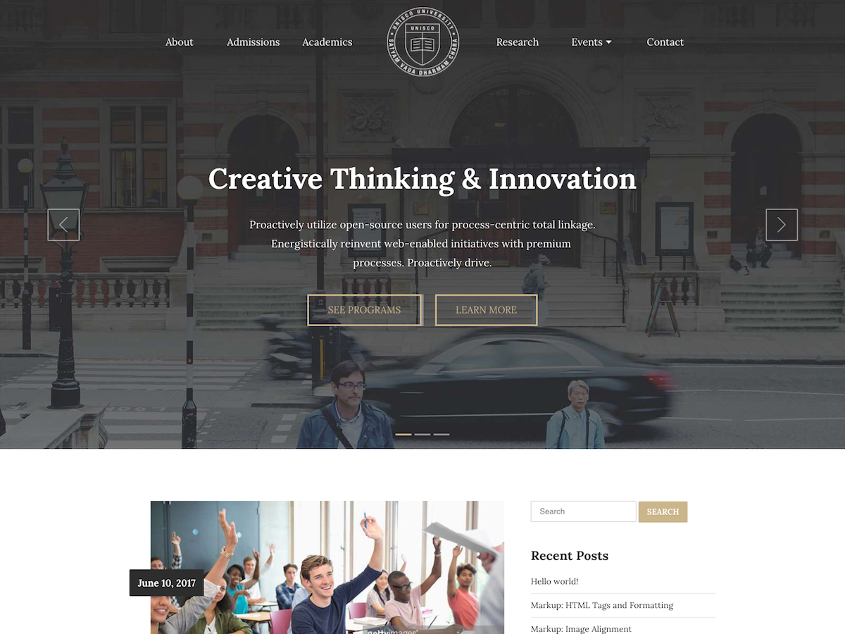 UNISCO Download Free Wordpress Theme 3