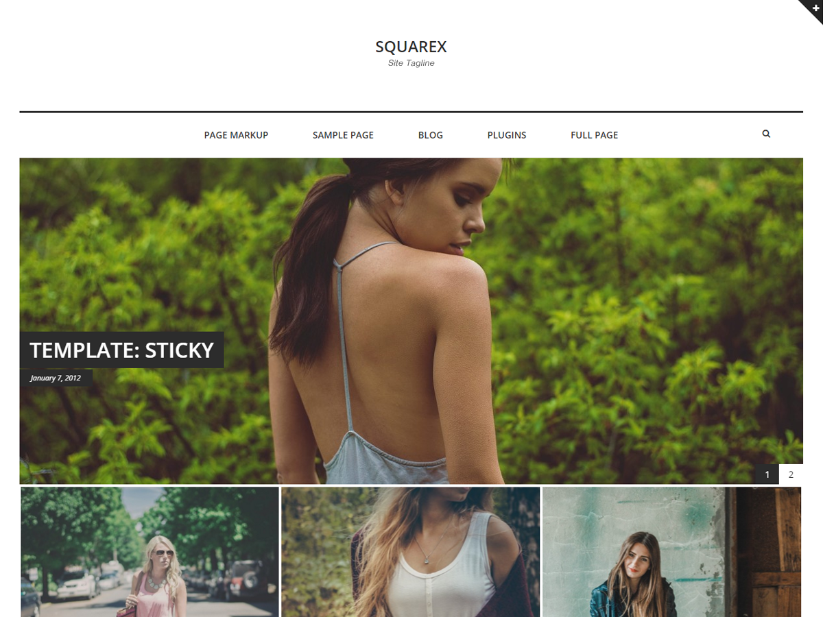 Squarex Lite Download Free Wordpress Theme 3