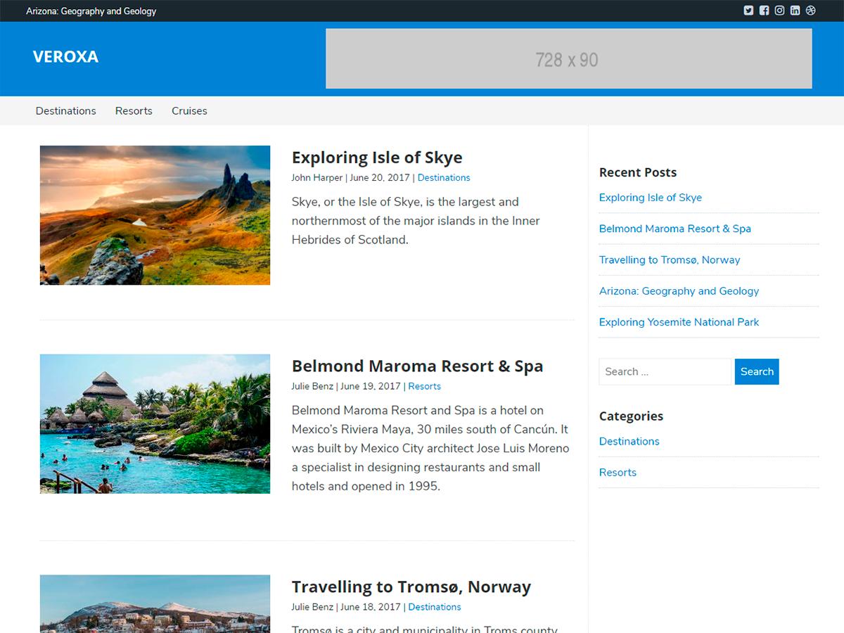Veroxa Download Free Wordpress Theme 1
