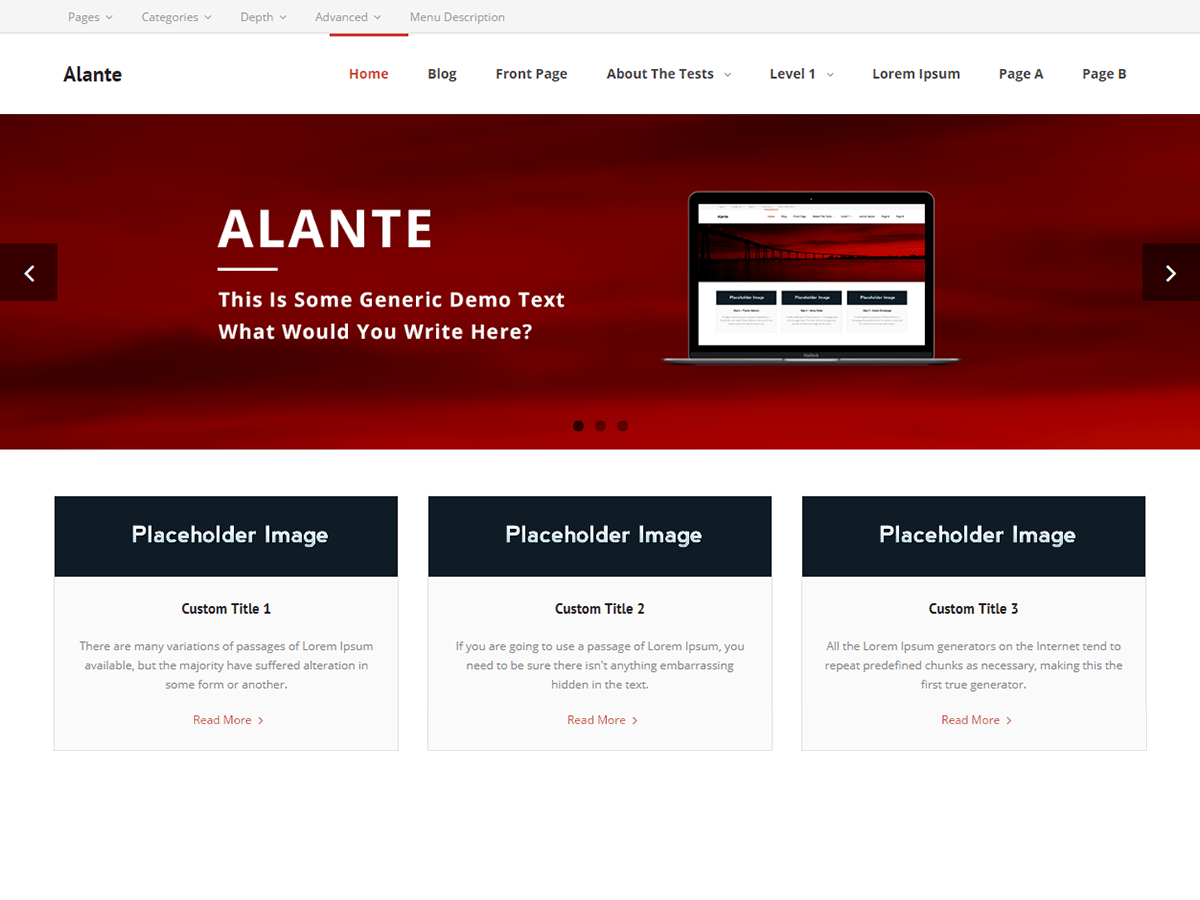 Alante Download Free Wordpress Theme 2