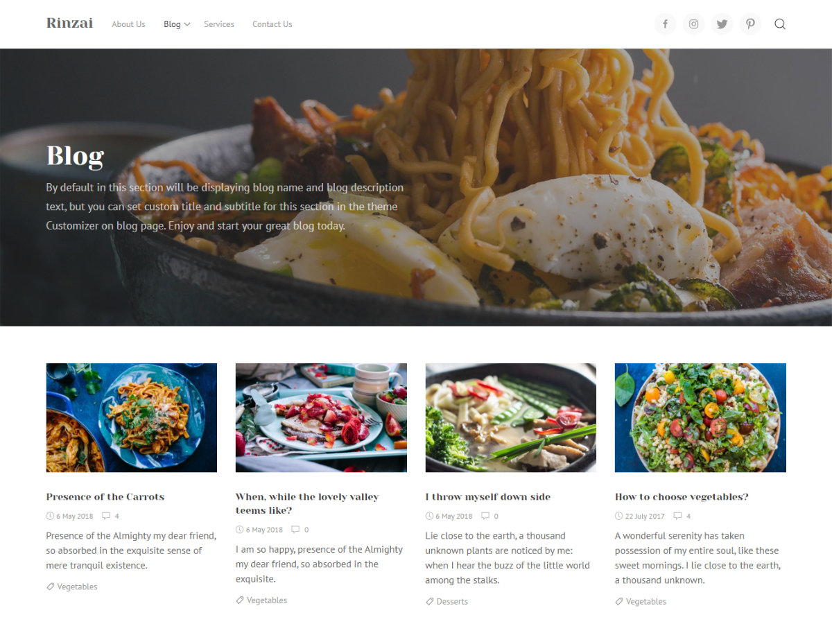Rinzai Download Free Wordpress Theme 4