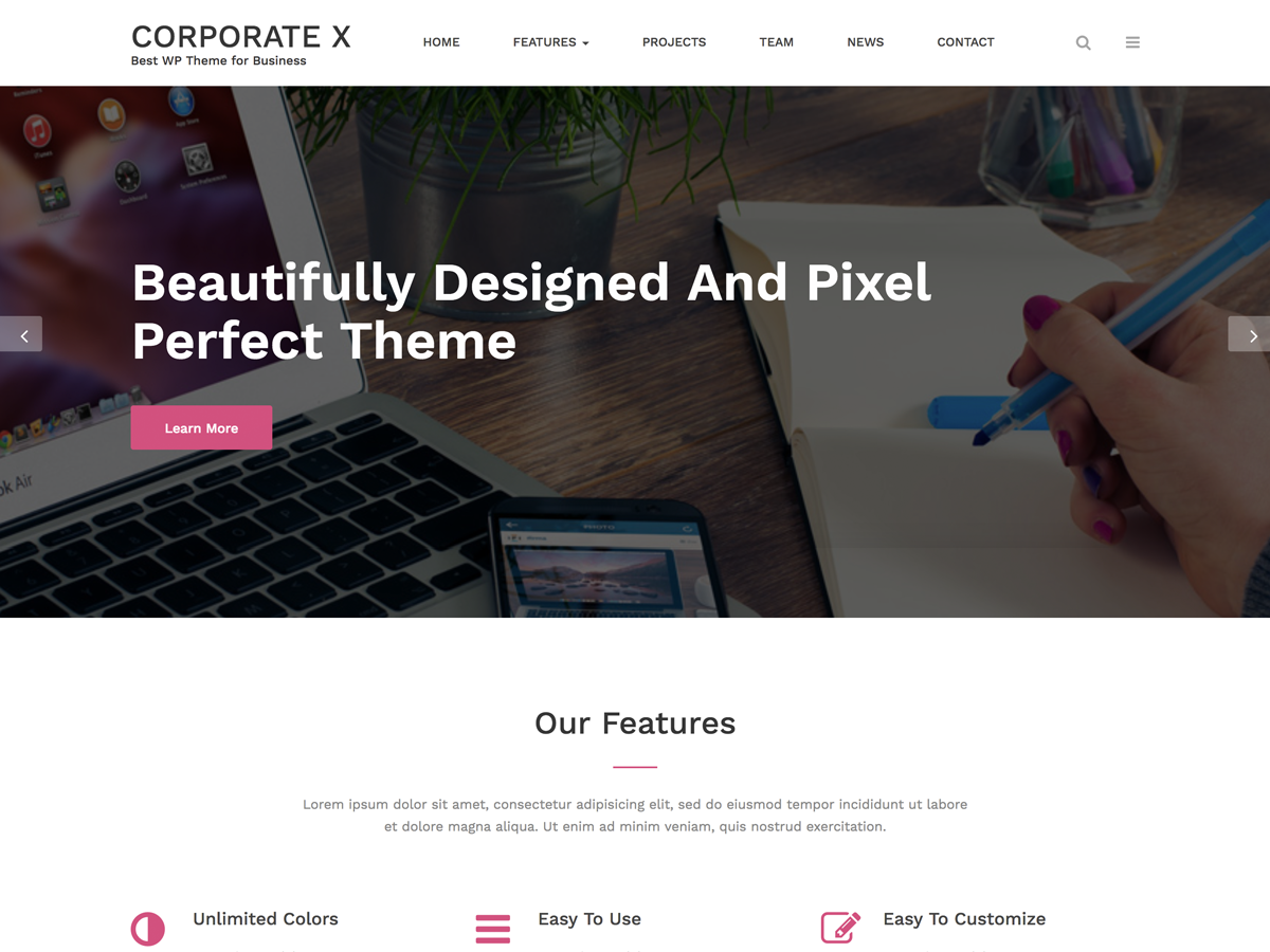 Corporate X Download Free Wordpress Theme 3