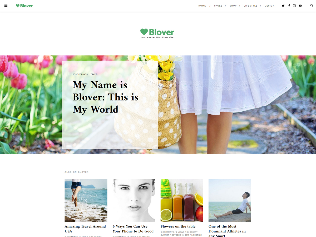 Blover Download Free Wordpress Theme 2