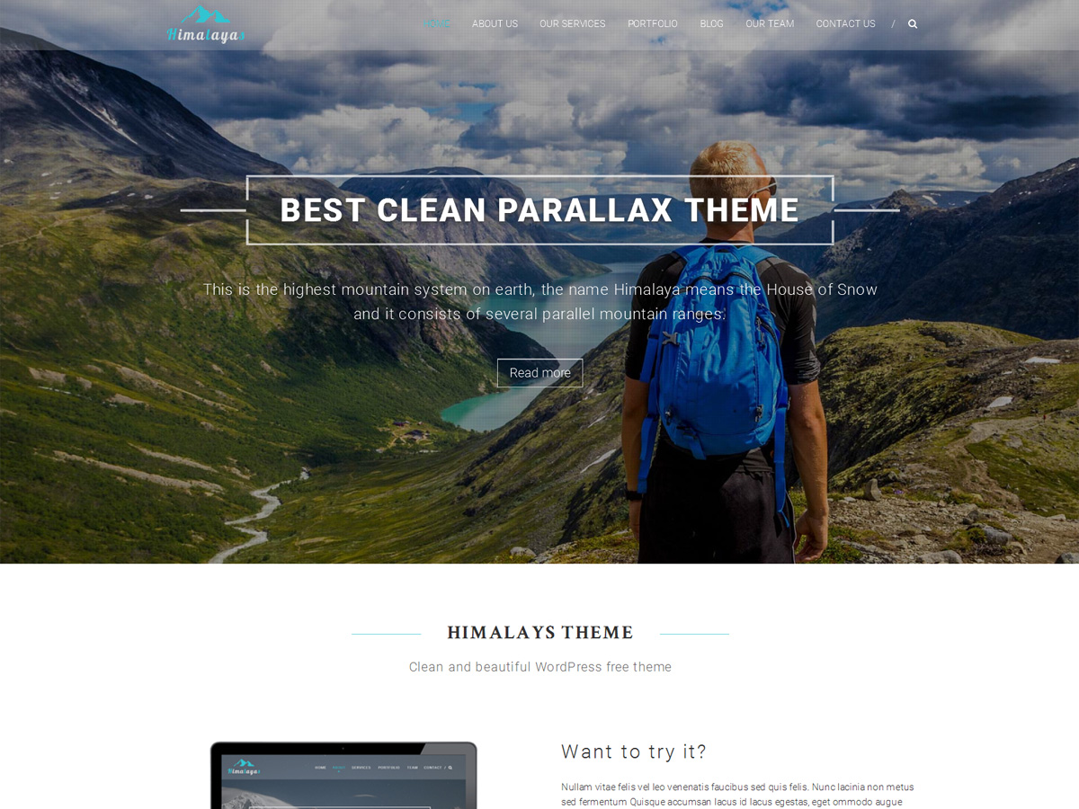 Himalayas Download Free Wordpress Theme 1