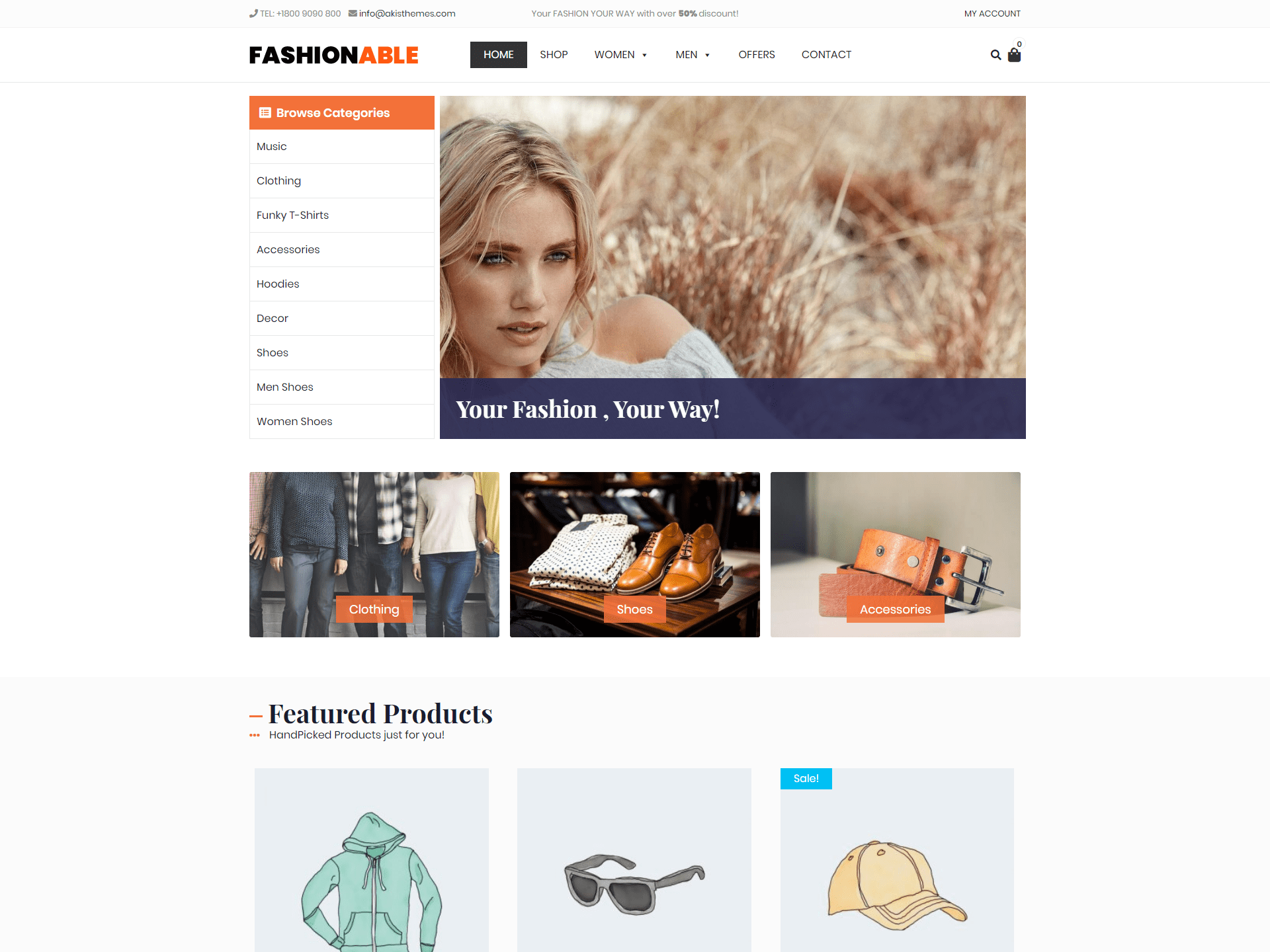 Fashionable Store Download Free Wordpress Theme 2