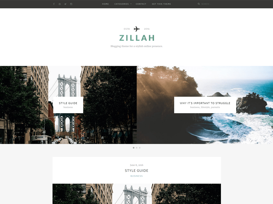 Zillah Download Free Wordpress Theme 3