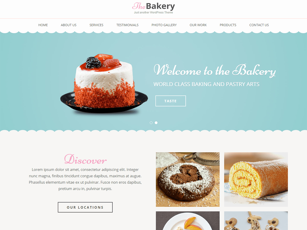 Bakes And Cakes Download Free Wordpress Theme 2