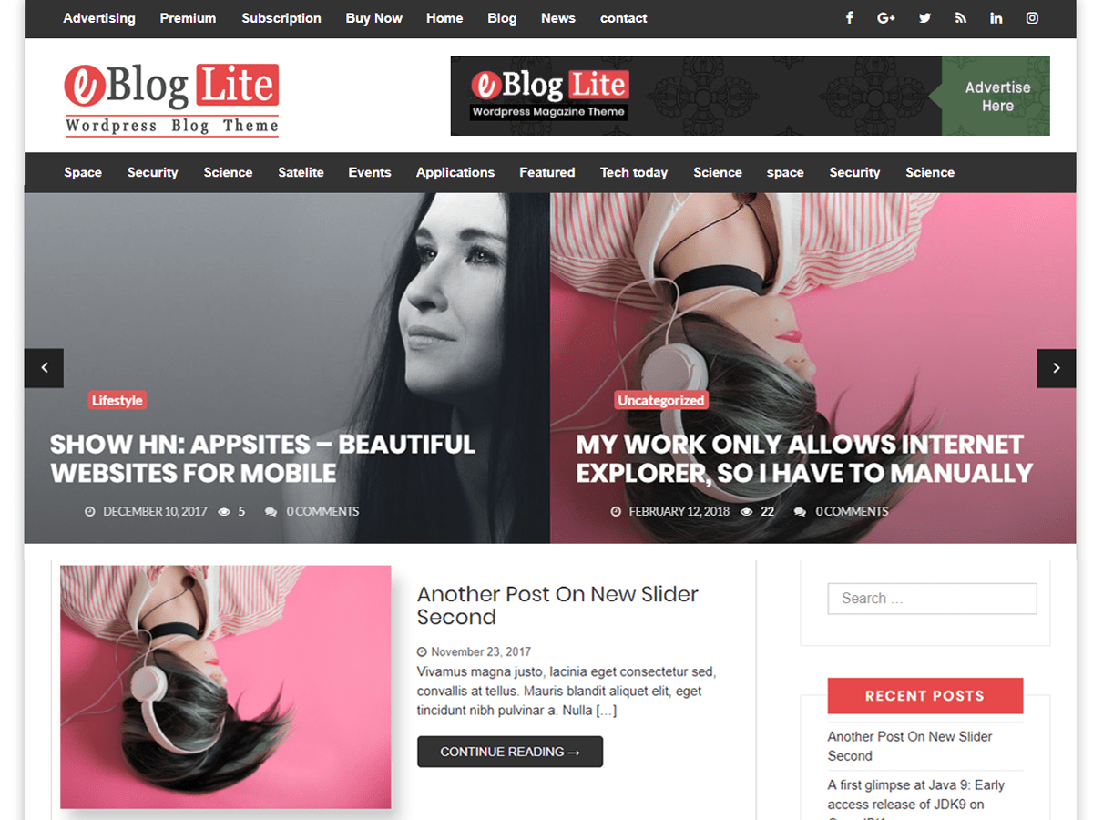 eBlog Lite Download Free Wordpress Theme 1