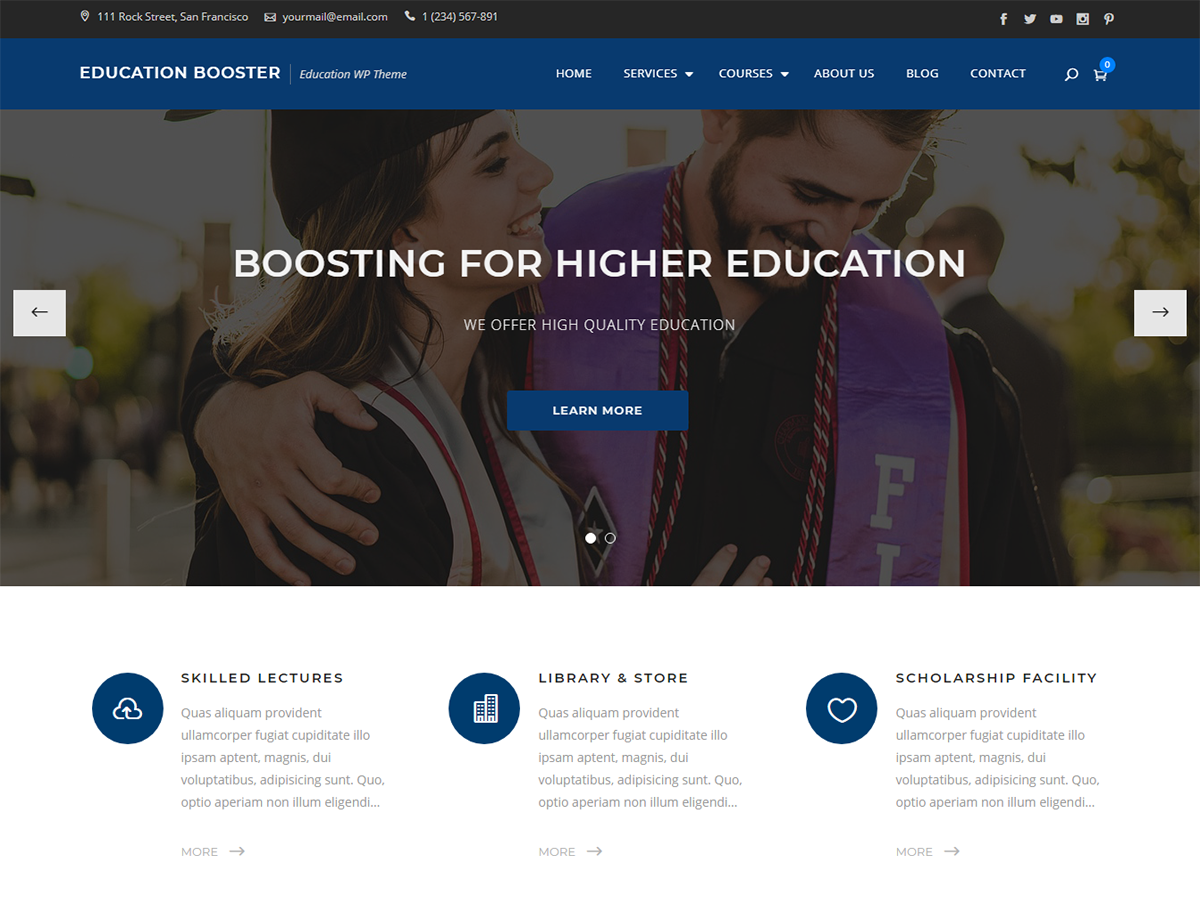 Education Booster Download Free Wordpress Theme 4
