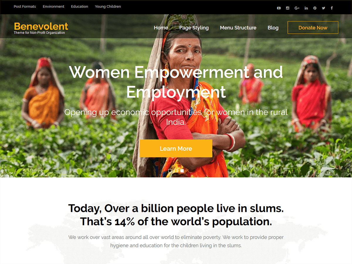Benevolent Download Free Wordpress Theme 2