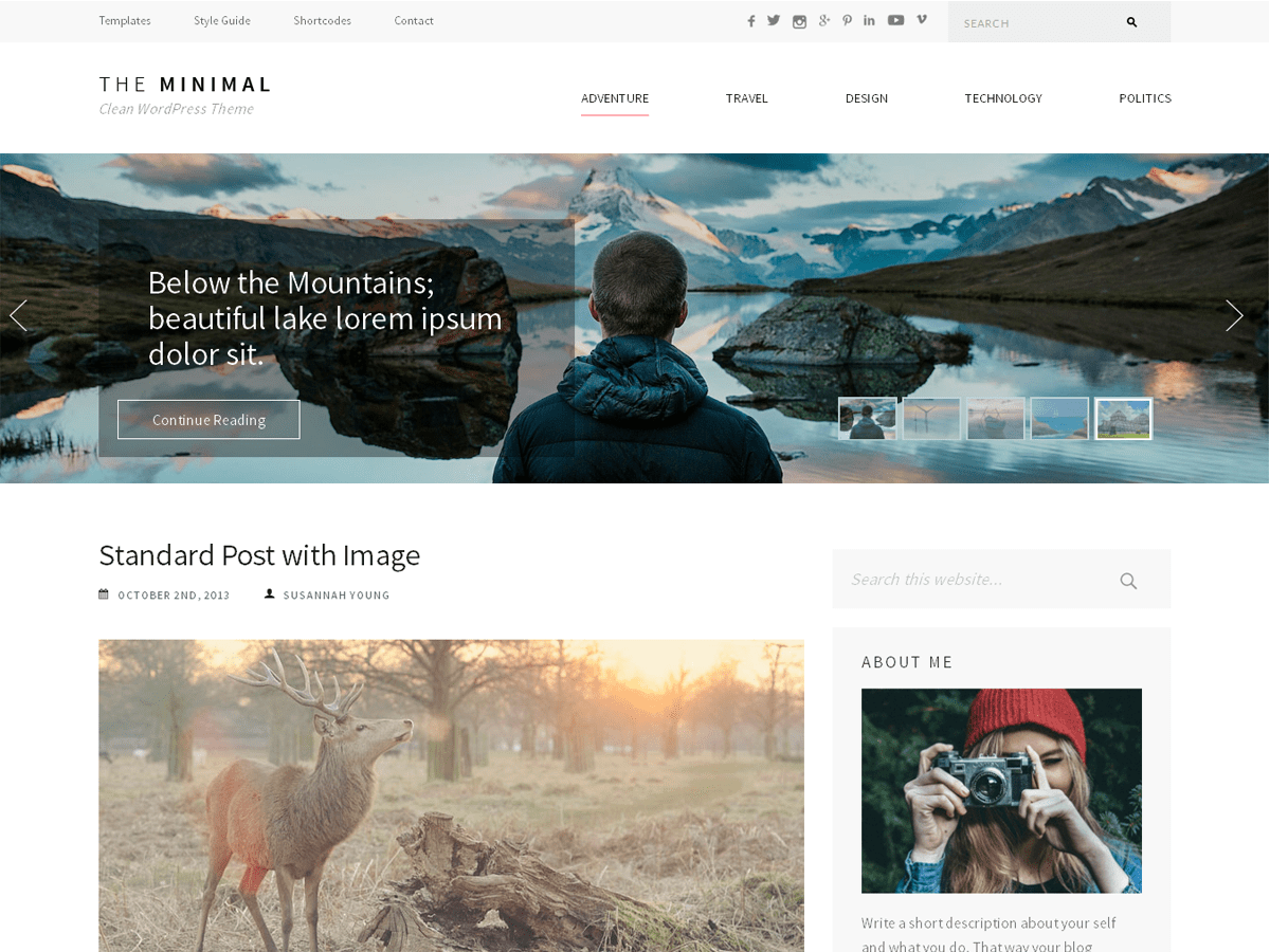 The Minimal Download Free Wordpress Theme 5