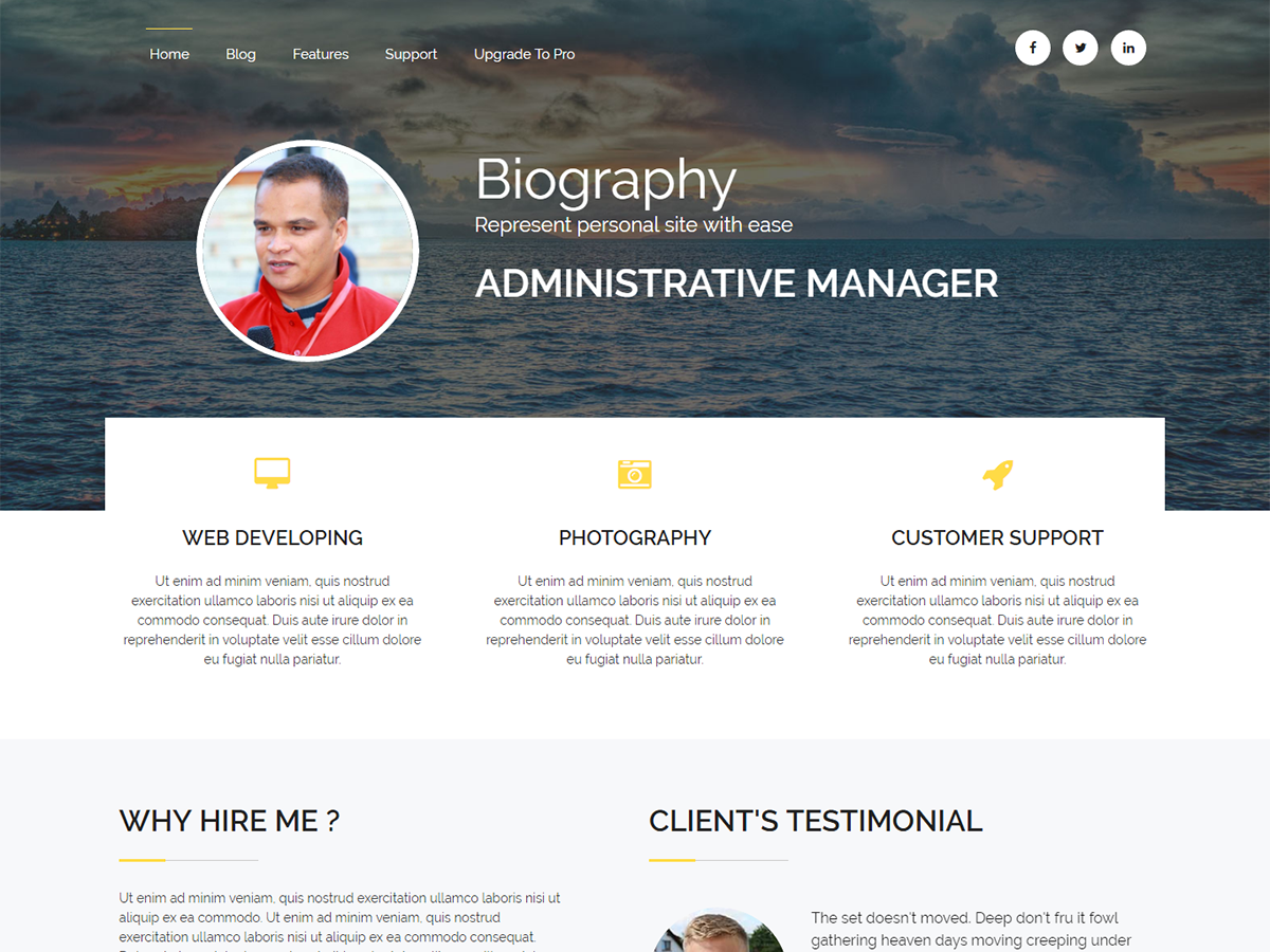 Biography Download Free Wordpress Theme 4