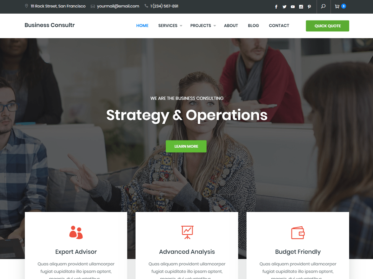 Business Consultr Download Free Wordpress Theme 2