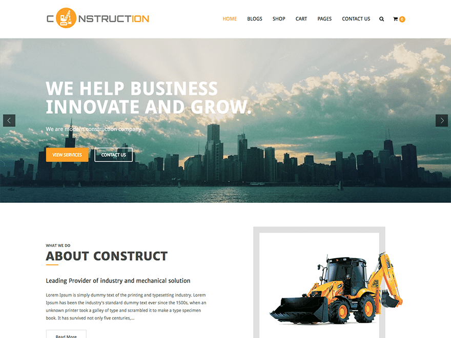 Construction Lite Download Free Wordpress Theme 1