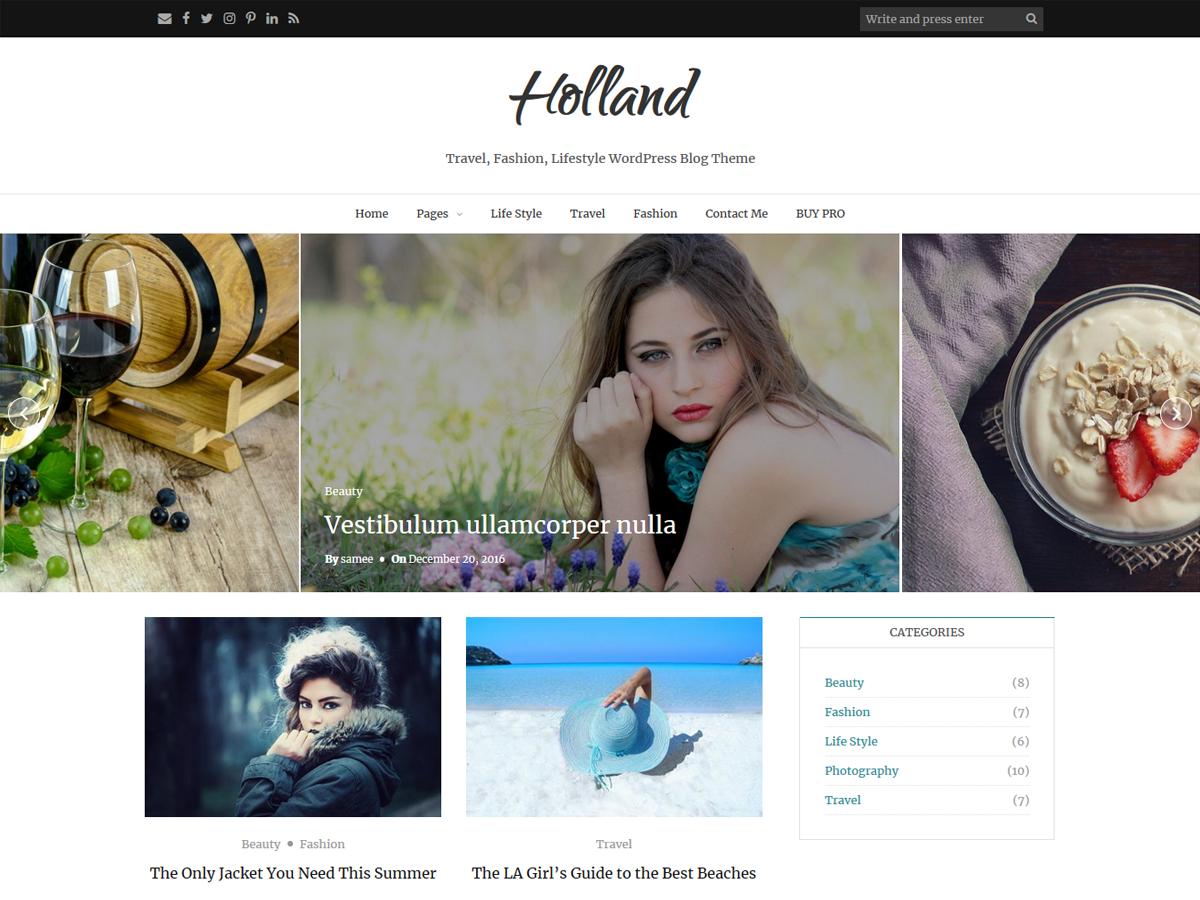 Holland Download Free Wordpress Theme 3