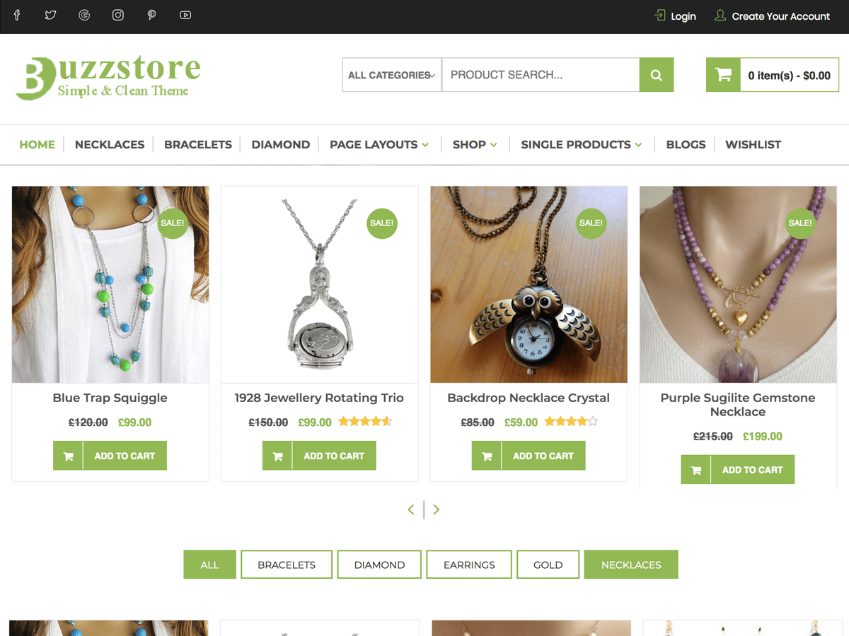 BuzzStore Download Free WordPress Theme