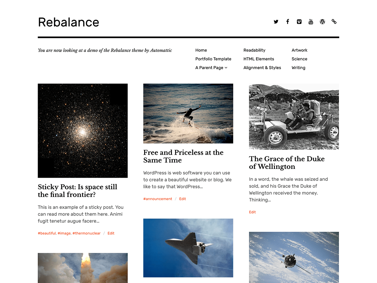 Rebalance Download Free Wordpress Theme 4