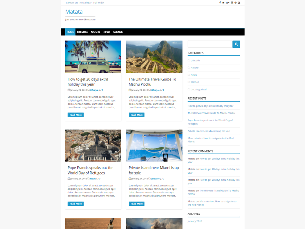 Matata Download Free Wordpress Theme 2