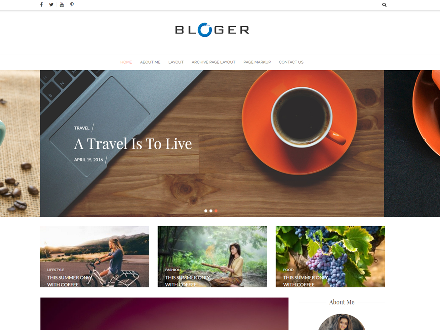 Bloger Download Free Wordpress Theme 2