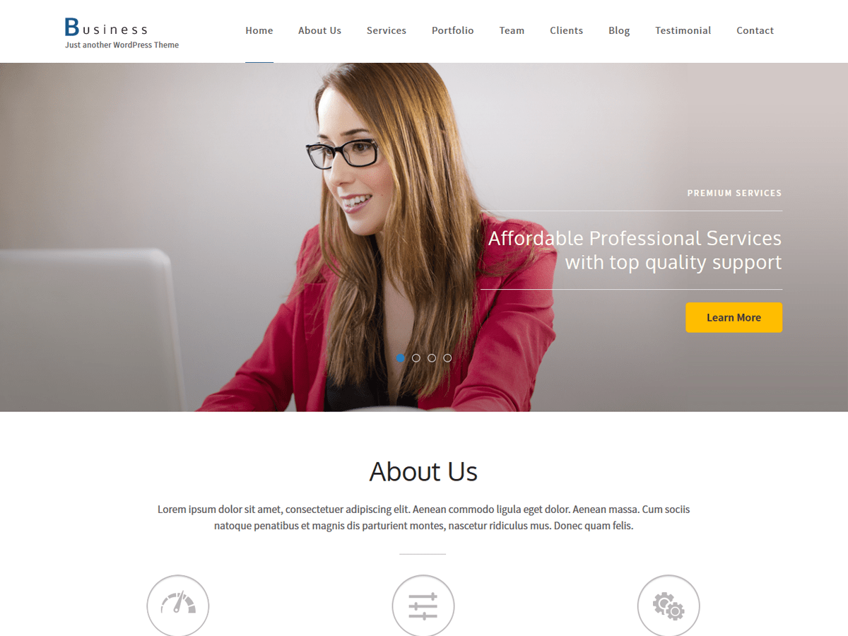 Business One Page Download Free Wordpress Theme 4